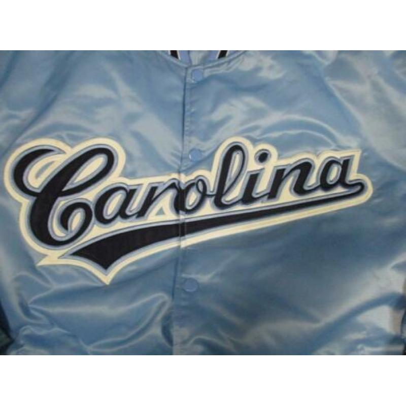 North carolina classic satin vintage bomber jacket light bl